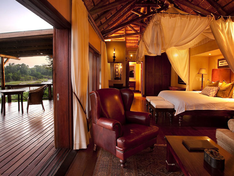 Pembury Tours - Kruger - Sabi Sands - Lion Sands River Lodge - Bedroom & Deck