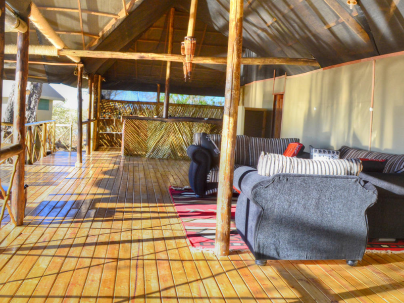 Pembury Tours - Camp Linyati - Chobe National Park - Botswana - Accommodation - Lounge Area