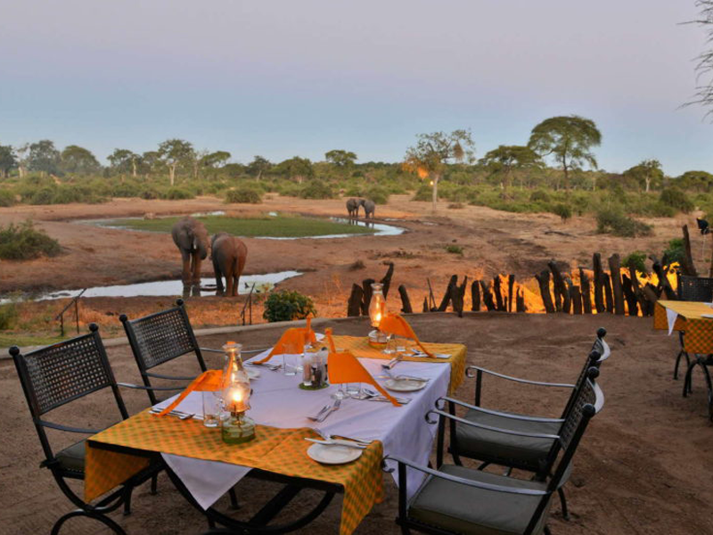 Pembury Tours - Elephant Valley Lodge - Chobe - Botswana - Accommodation - Outdoor Dining - Elephants