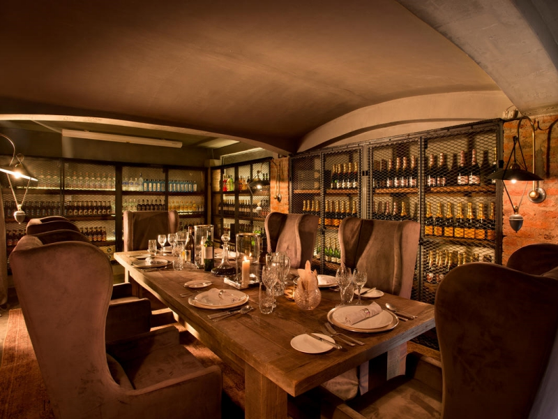 Pembury Tours - East Africa - Tanzania - &Beyond Ngorongoro Crater Lodge - wine cellar