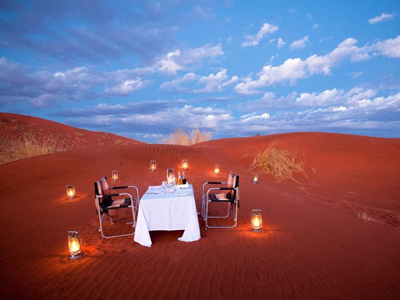 Pembury Tours - &Beyond Sossusvlei Desert Lodge - Namibia - Outdoor Dining