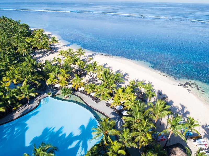 Pembury Tours - Victoria Beachcomber Resort and Spa - Mauritius - Beach Aerial