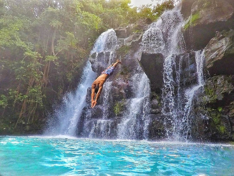 Pembury Tours - Eau Bleue Waterfalls - Mauritius - Adventure Activities - Waterfalls