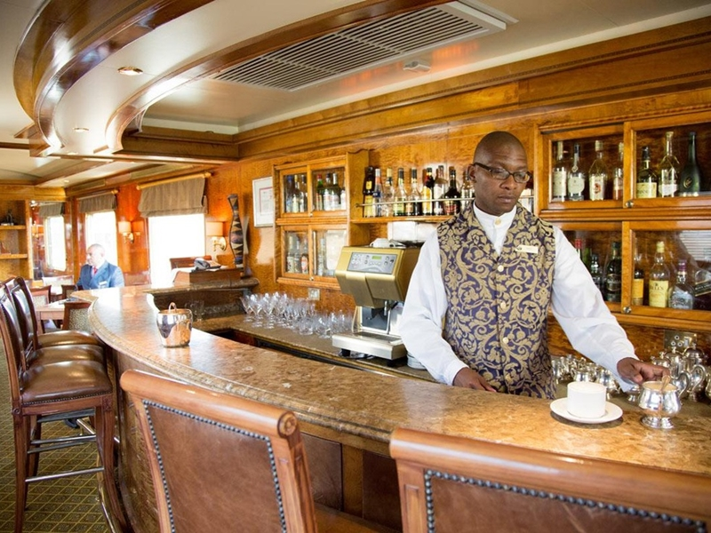 Pembury Tours - The Blue Train - Luxury Rail Accommodation - South African Train Route - Bar