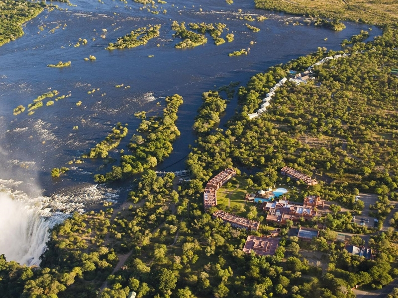 Pembury Tours - Royal Livingstone Hotel - Victoria Falls - Zambia - Accommodation - Aerial View