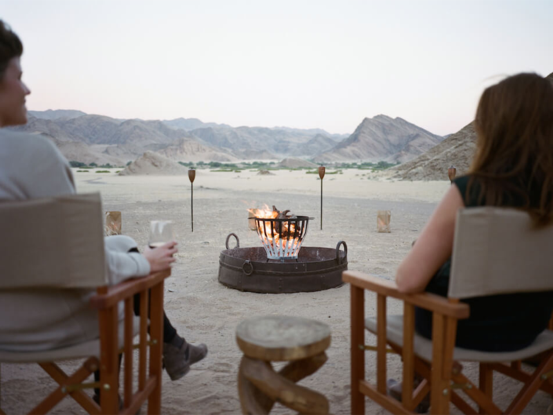 Pembury Tours - Namibia - Hoanib Valley Camp - Sundowners
