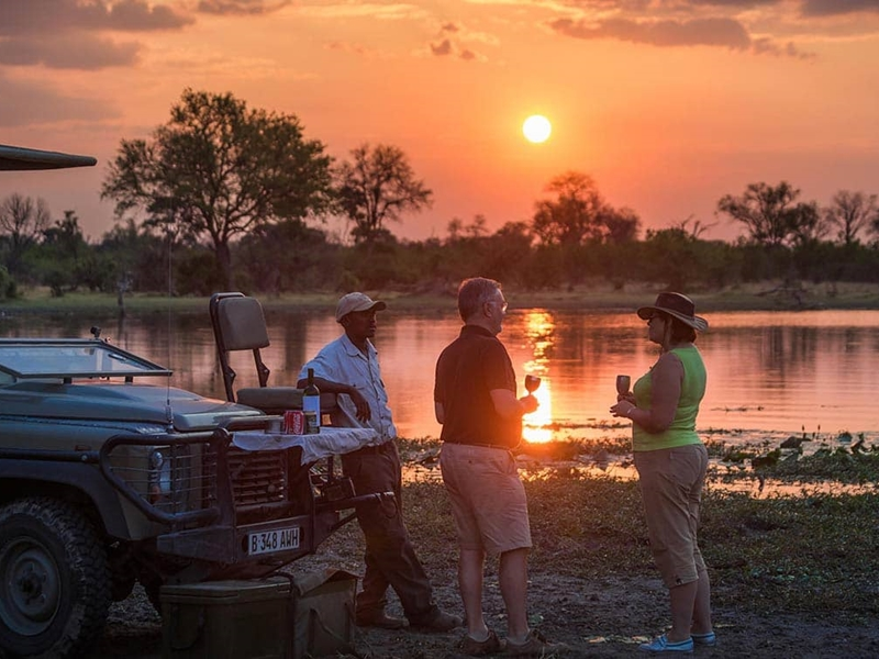 Pembury Tours - Chobe Game Reserve - Muchenje Safari Lodge - Safari Activities - Game Drive - Game Viewing - Sunset