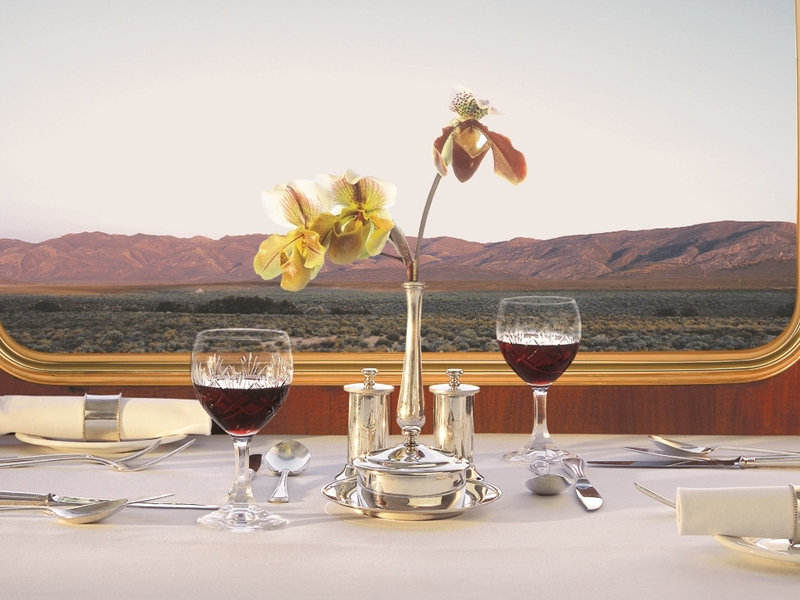 Pembury Tours - The Blue Train - Luxury Rail Accommodation - South African Train Route - Table setting