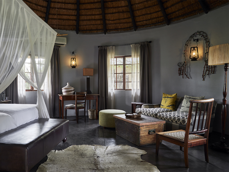 Pembury Tours - Kruger - Timbavati - Motswari Private Game Reserve - Bungalow Bedroom - Seating Area