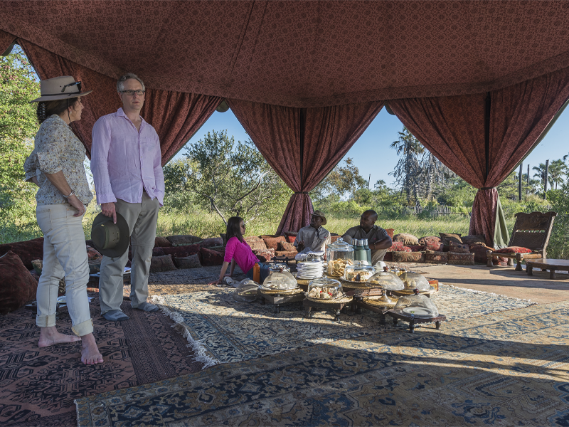 Pembury Tours - Jacks' Camp - Makgadikgadi Pans - Kalahari Desert - Gourmet Safari Dining - High Tea