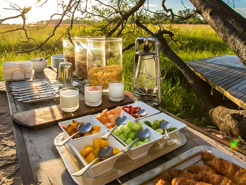 Pembury Tours - Abu Camp - Okavango Delta - Botswana - Dining - Breakfast Buffet
