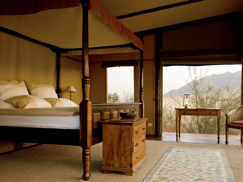 Pembury Tours - Wolwedans Private Camp - Sossusvlei - Namibia - Exclusive-Use - Accommodation - Bedroom Interior
