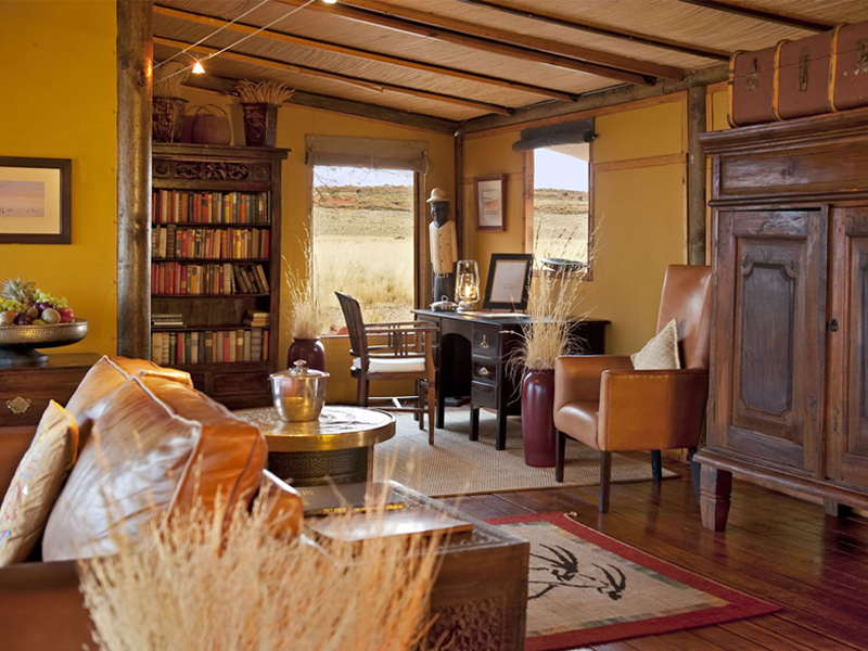 Pembury Tours - Wolwedans Private Camp - Sossusvlei - Namibia - Exclusive-Use - Accommodation - Lounge