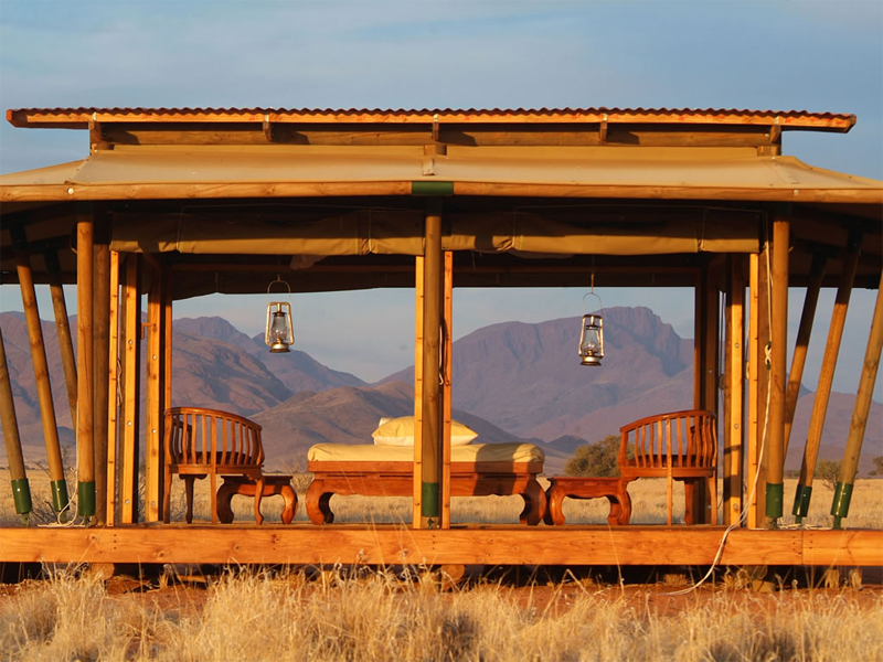 Pembury Tours - Wolwedans Private Camp - Sossusvlei - Namibia - Exclusive-Use - Accommodation - Outdoor Seating