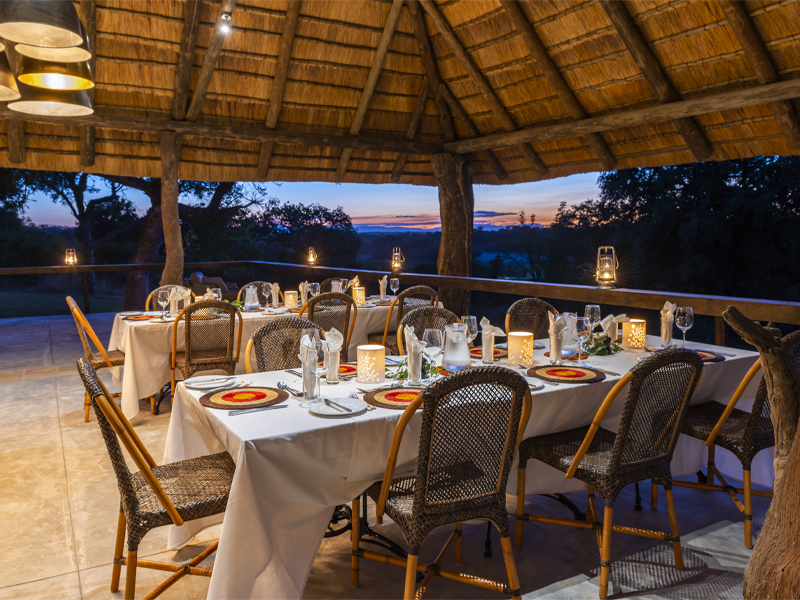 Pembury Tours - Inyati Game Lodge - Sabi Sands Private Game Reserve - Kruger National Park - Accommodation - Outdoor Dining