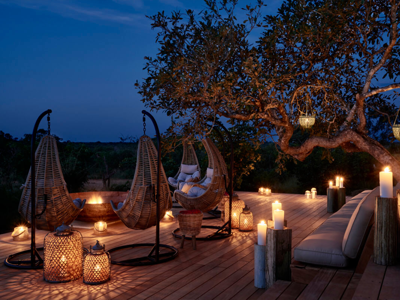 Pembury Tours - Royal Malewane - Kruger National Park - South Africa - Accommodation - Deck at Night