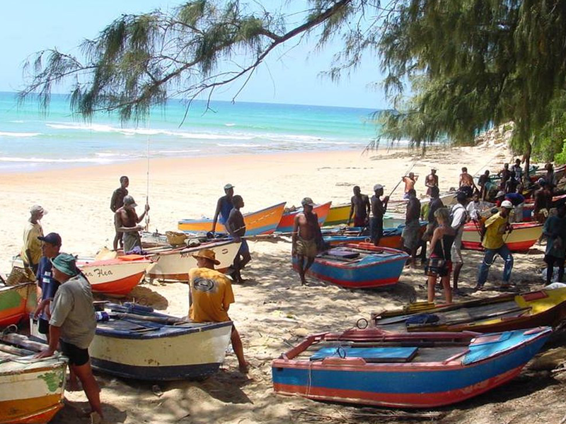 Pembury Tours - Tofo - Mozambique - Beach with Fishing Boats