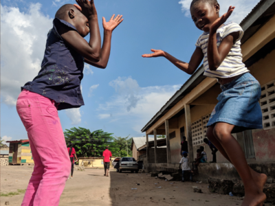Pembury Tours - Traditional African Children's Games - Ghana - Ampe